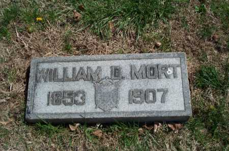 MORT, WILLIAM D. - Clark County, Ohio | WILLIAM D. MORT - Ohio Gravestone Photos