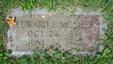MOSHER, EDWARD E. - Clark County, Ohio | EDWARD E. MOSHER - Ohio Gravestone Photos