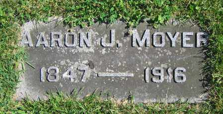 MOYER, AARON J. - Clark County, Ohio | AARON J. MOYER - Ohio Gravestone Photos