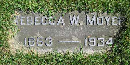 MOYER, REBECCA W. - Clark County, Ohio | REBECCA W. MOYER - Ohio Gravestone Photos