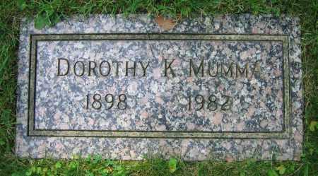 MUMMA, DOROTHY K. - Clark County, Ohio | DOROTHY K. MUMMA - Ohio Gravestone Photos