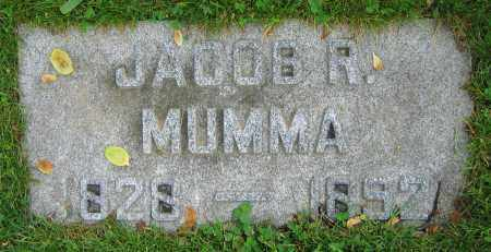 MUMMA, JACOB R. - Clark County, Ohio | JACOB R. MUMMA - Ohio Gravestone Photos