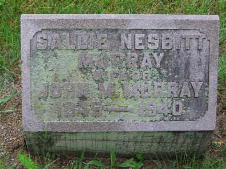 NESBITT MURRAY, SALLIE - Clark County, Ohio | SALLIE NESBITT MURRAY - Ohio Gravestone Photos
