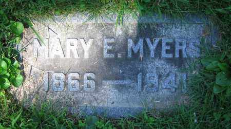 MYERS, MARY E. - Clark County, Ohio | MARY E. MYERS - Ohio Gravestone Photos