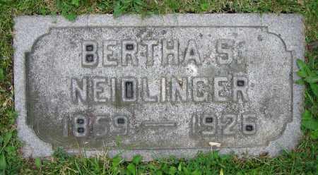 NEIDLINGER, BERTHA S. - Clark County, Ohio   BERTHA S. NEIDLINGER - Ohio Gravestone Photos