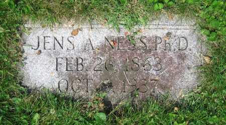NESS, JENS A.  PH.D. - Clark County, Ohio   JENS A.  PH.D. NESS - Ohio Gravestone Photos