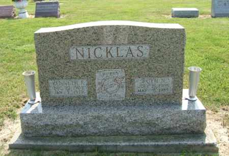 NICKLAS, RUTH - Clark County, Ohio | RUTH NICKLAS - Ohio Gravestone Photos