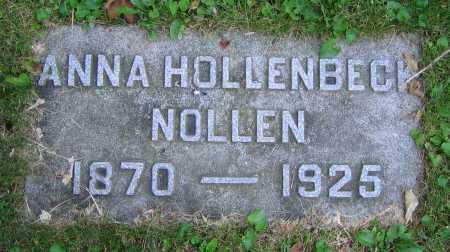 HOLLENBECK NOLLEN, ANNA - Clark County, Ohio | ANNA HOLLENBECK NOLLEN - Ohio Gravestone Photos
