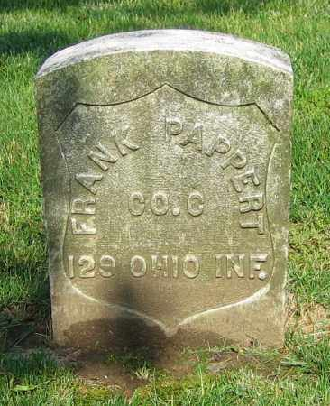 PAPPERT, FRANK - Clark County, Ohio | FRANK PAPPERT - Ohio Gravestone Photos