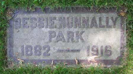 NUNNALLY PARK, BESSIE - Clark County, Ohio | BESSIE NUNNALLY PARK - Ohio Gravestone Photos