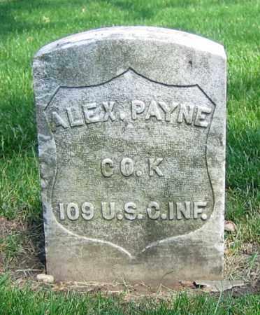PAYNE, ALEX. - Clark County, Ohio   ALEX. PAYNE - Ohio Gravestone Photos