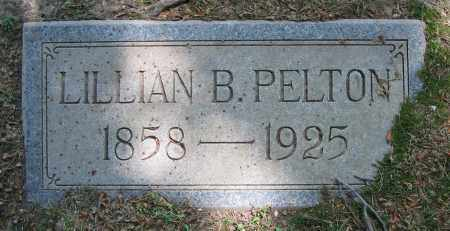 PELTON, LILLIAN B. - Clark County, Ohio | LILLIAN B. PELTON - Ohio Gravestone Photos