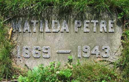 PETRE, MATILDA - Clark County, Ohio | MATILDA PETRE - Ohio Gravestone Photos