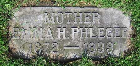 PHLEGER, EMMA H. - Clark County, Ohio | EMMA H. PHLEGER - Ohio Gravestone Photos