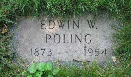 POLING, EDWIN W. - Clark County, Ohio | EDWIN W. POLING - Ohio Gravestone Photos