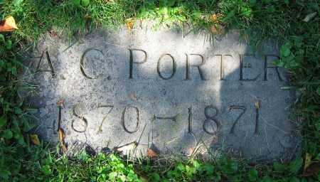 PORTER, A.C. - Clark County, Ohio | A.C. PORTER - Ohio Gravestone Photos