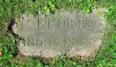 PORTER, A.J. - Clark County, Ohio | A.J. PORTER - Ohio Gravestone Photos