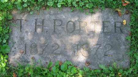 PORTER, T.H. - Clark County, Ohio | T.H. PORTER - Ohio Gravestone Photos