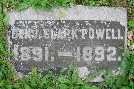 POWELL, BENJ. CLARK - Clark County, Ohio | BENJ. CLARK POWELL - Ohio Gravestone Photos