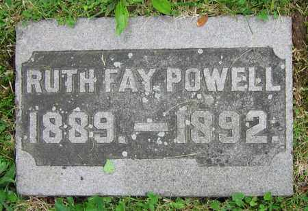 POWELL, RUTH FAY - Clark County, Ohio | RUTH FAY POWELL - Ohio Gravestone Photos