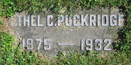 PUCKRIDGE, ETHEL C. - Clark County, Ohio | ETHEL C. PUCKRIDGE - Ohio Gravestone Photos