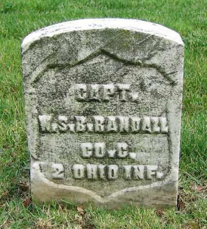 RANDALL, W.S.B. - Clark County, Ohio | W.S.B. RANDALL - Ohio Gravestone Photos