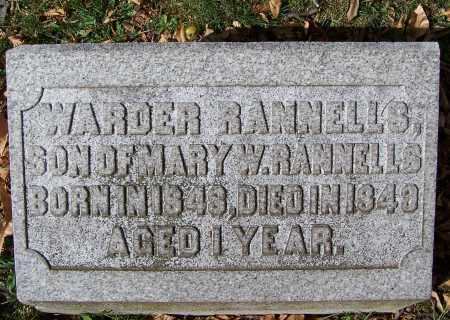 RANNELLS, WARDER - Clark County, Ohio | WARDER RANNELLS - Ohio Gravestone Photos