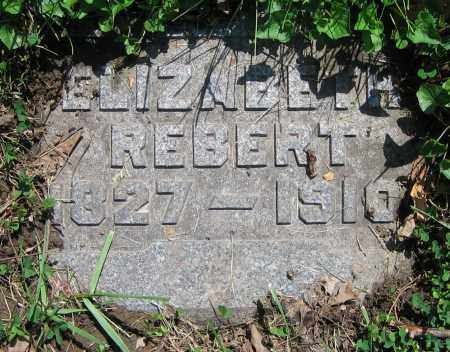 REBERT, ELIZABETH - Clark County, Ohio | ELIZABETH REBERT - Ohio Gravestone Photos