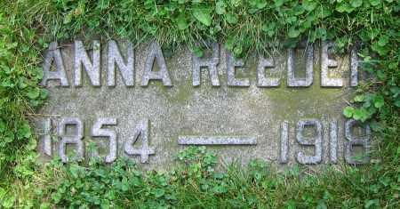 REEDER, ANNA - Clark County, Ohio | ANNA REEDER - Ohio Gravestone Photos