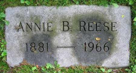 REESE, ANNIE B. - Clark County, Ohio | ANNIE B. REESE - Ohio Gravestone Photos