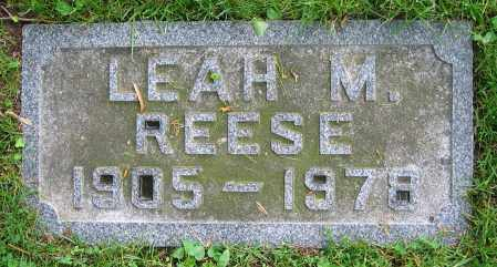 REESE, LEAH M. - Clark County, Ohio | LEAH M. REESE - Ohio Gravestone Photos