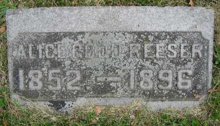 REESER, ALICE - Clark County, Ohio | ALICE REESER - Ohio Gravestone Photos
