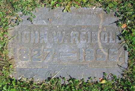 REIBOLD, JOHN W. - Clark County, Ohio | JOHN W. REIBOLD - Ohio Gravestone Photos