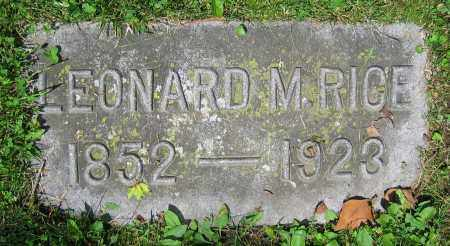 RICE, LEONARD M. - Clark County, Ohio | LEONARD M. RICE - Ohio Gravestone Photos