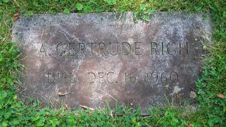 RICH, A. GERTRUDE - Clark County, Ohio | A. GERTRUDE RICH - Ohio Gravestone Photos