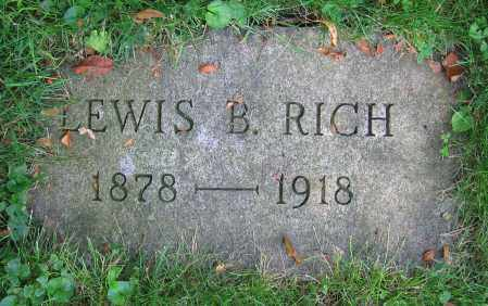 RICH, LEWIS B. - Clark County, Ohio | LEWIS B. RICH - Ohio Gravestone Photos