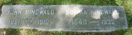 RINGWALD, SOPHIA - Clark County, Ohio | SOPHIA RINGWALD - Ohio Gravestone Photos