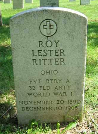 RITTER, ROY LESTER - Clark County, Ohio | ROY LESTER RITTER - Ohio Gravestone Photos