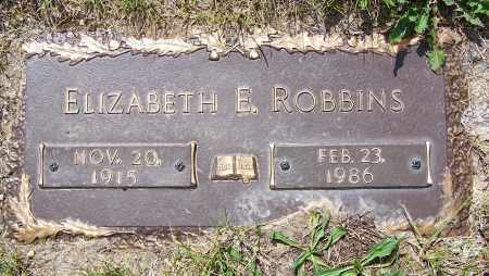 ROBBINS, ELIZABETH E. - Clark County, Ohio | ELIZABETH E. ROBBINS - Ohio Gravestone Photos