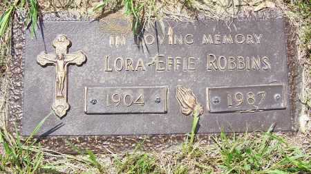 ROBBINS, LORA EFFIE - Clark County, Ohio | LORA EFFIE ROBBINS - Ohio Gravestone Photos