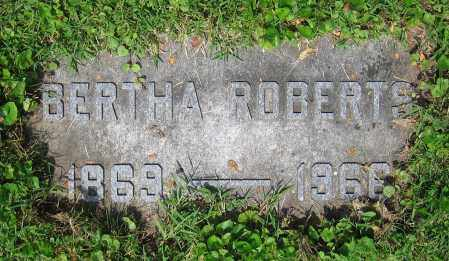 ROBERTS, BERTHA - Clark County, Ohio | BERTHA ROBERTS - Ohio Gravestone Photos