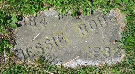ROHR, JESSIE - Clark County, Ohio | JESSIE ROHR - Ohio Gravestone Photos