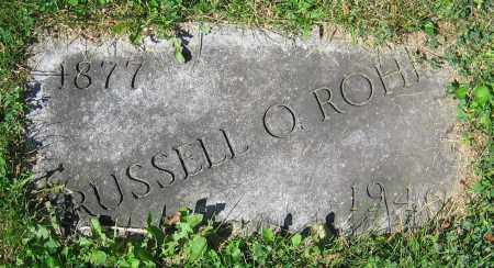 ROHR, RUSSELL O. - Clark County, Ohio | RUSSELL O. ROHR - Ohio Gravestone Photos