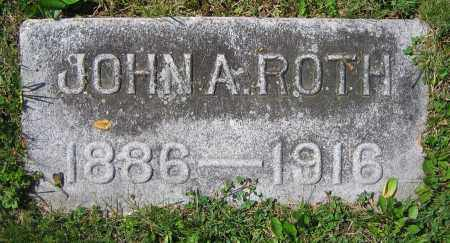 ROTH, JOHN A. - Clark County, Ohio | JOHN A. ROTH - Ohio Gravestone Photos