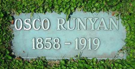RUNYAN, OSCO - Clark County, Ohio | OSCO RUNYAN - Ohio Gravestone Photos