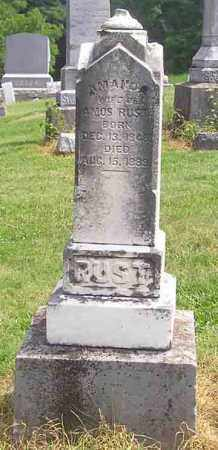 RUST, AMANDA - Clark County, Ohio | AMANDA RUST - Ohio Gravestone Photos