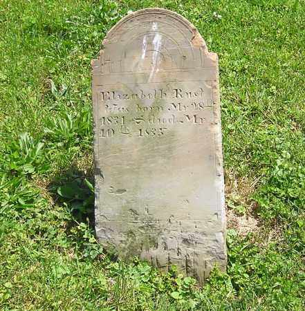 RUST, ELIZABETH - Clark County, Ohio | ELIZABETH RUST - Ohio Gravestone Photos