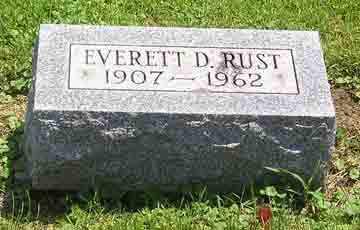 RUST, EVERETT D. - Clark County, Ohio   EVERETT D. RUST - Ohio Gravestone Photos