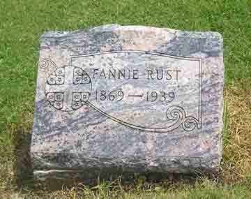 RUST, FANNIE - Clark County, Ohio | FANNIE RUST - Ohio Gravestone Photos