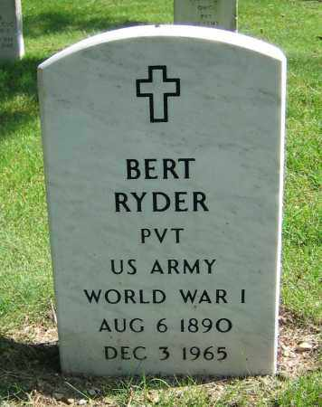 RYDER, BERT - Clark County, Ohio | BERT RYDER - Ohio Gravestone Photos